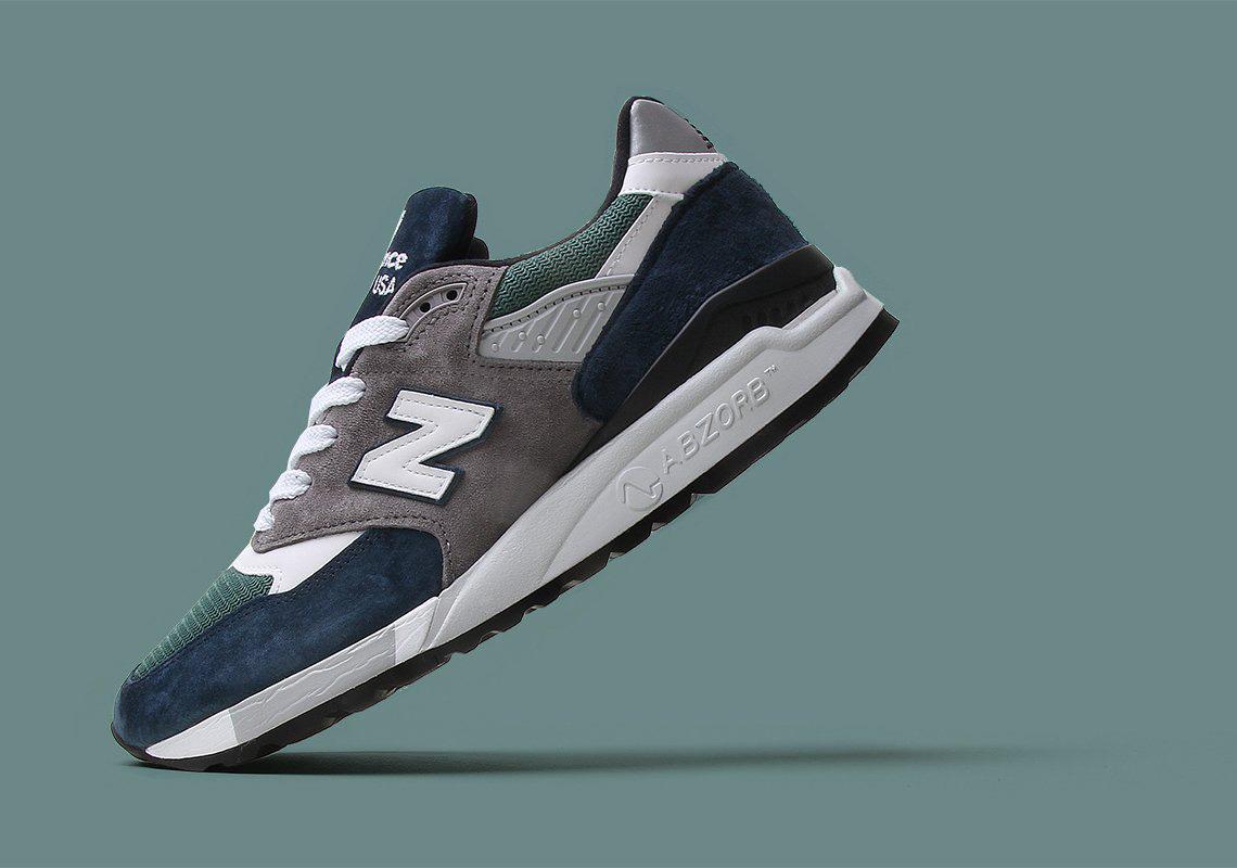 New Balance 998 Blue Green Running Shoes