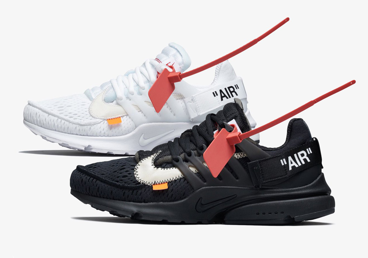 air presto nere off white