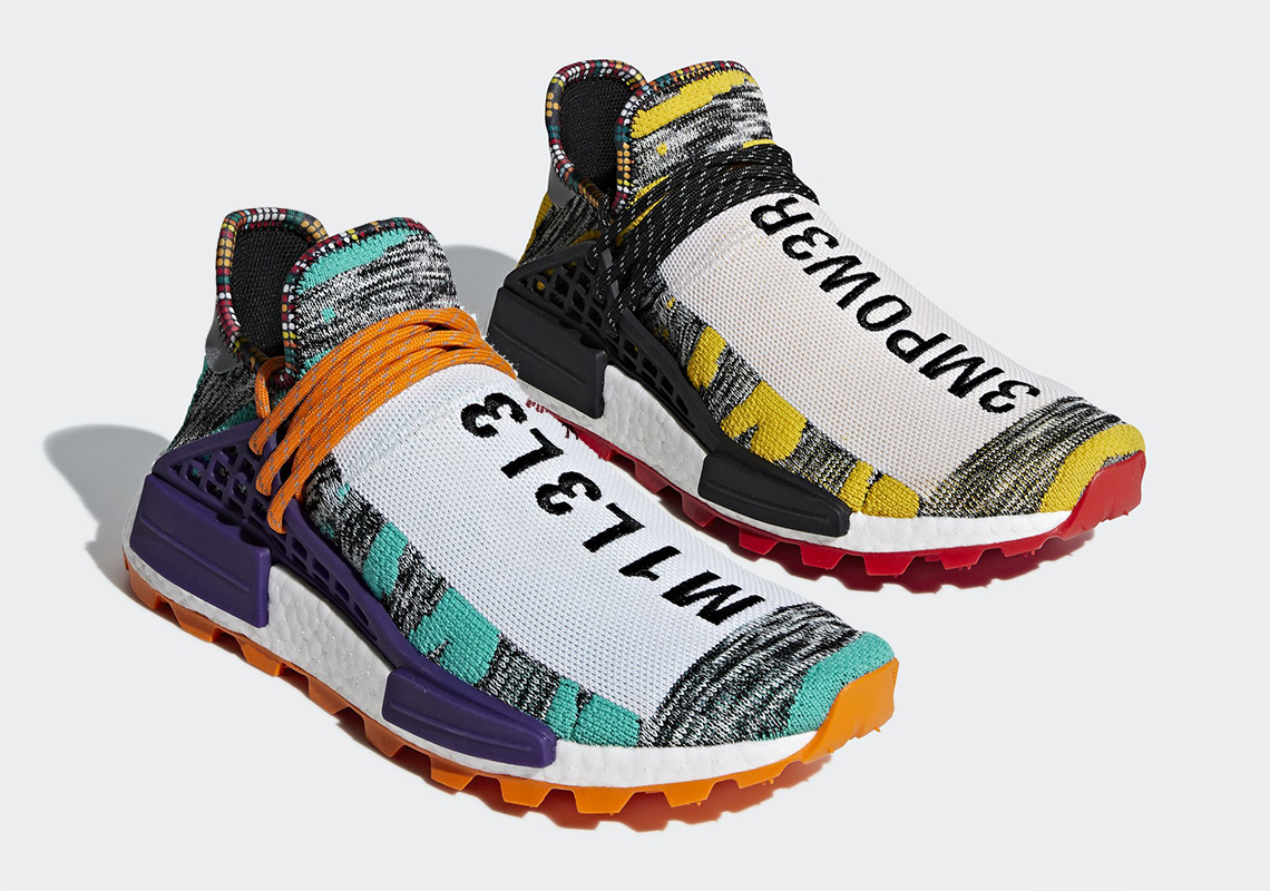 "the latest a54c2 2a4f6 Pharrell Williams x adidas NMD Hu ""Solar Pack"" 