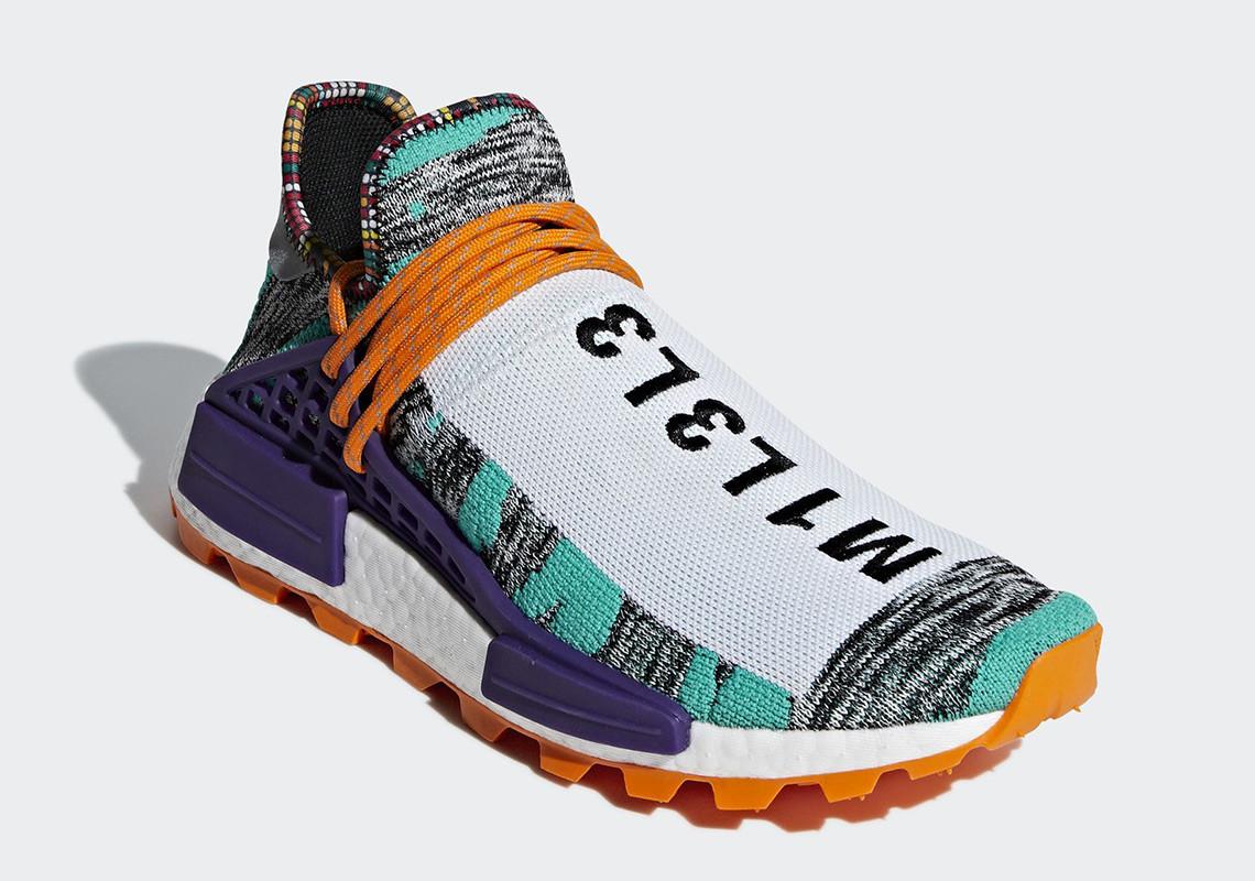 "the latest 07e3b 45d43 Pharrell Williams x adidas NMD Hu ""Solar Pack"" | The Source"