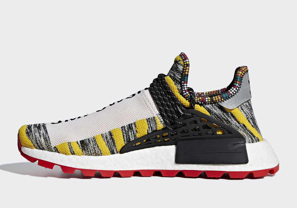 """cefef4751f4c5 Expect the Pharell x adidas NMD Hu """"Solar Pack"""" to drop at select adidas  retailers starting August 18. More pics below"""