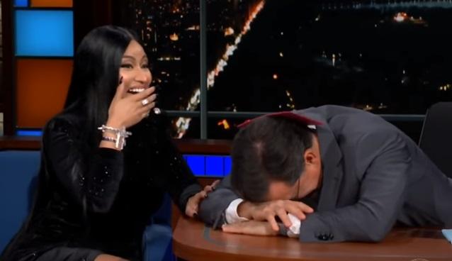 Nicki Minaj Stephen Colbert