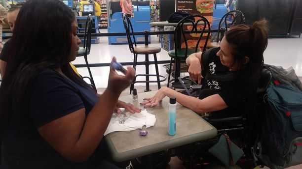 Walmart Employee Gives Disabled Woman a Manicure After Nail Salon Discriminated Against her