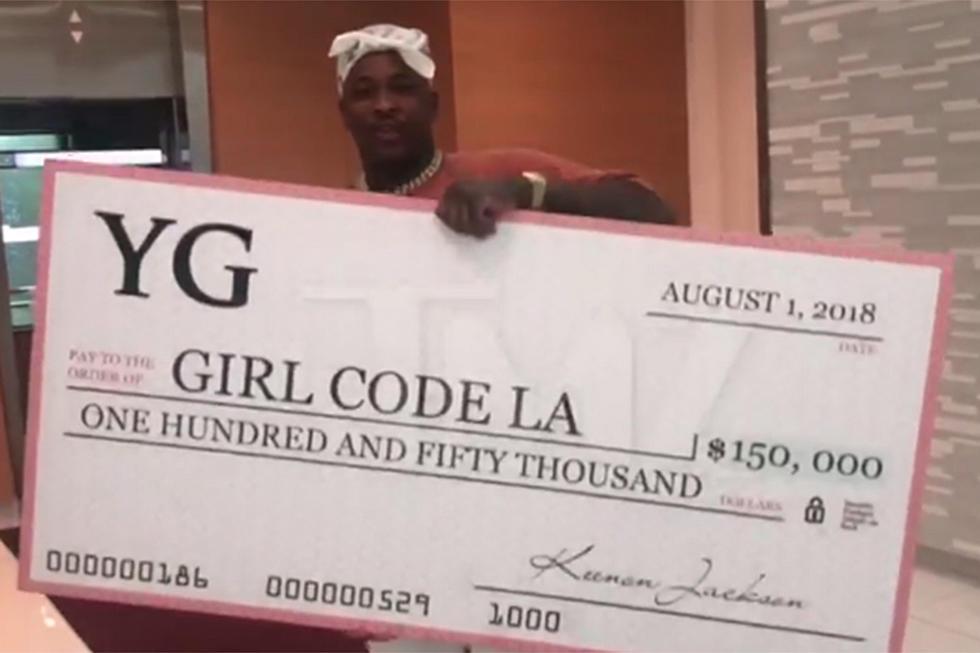 YG Donates $150,000 to Girl Code LA