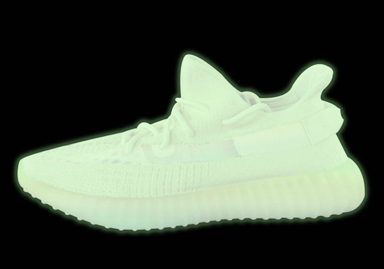 adidas yeezy boost  v glow in the dark green