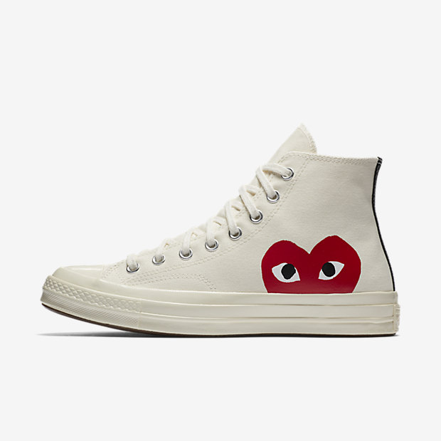 39d89e998a0c8c The reissued COMME des GARÇONS Play x Converse Chuck Taylor All Star  collection is available right now via the Converse web store