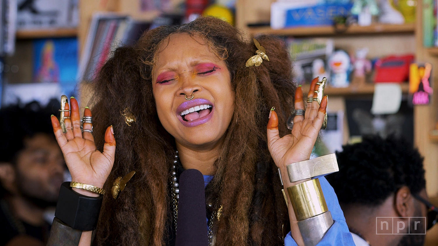 Erykah Badu Performs at NPR Tiny Desk Concert
