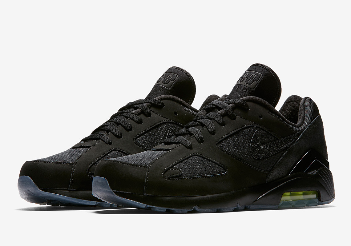 "3fd16db8240d Expect the Air Max 90 and Air 180 silhouettes in the Nike ""Night Ops"" pack  to arrive next Thursday (August 23) on Nike SNKRS. Check out both below"