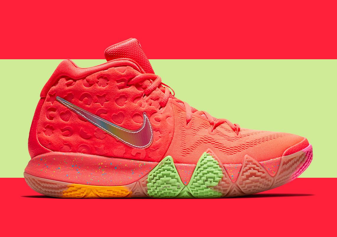 "cheap for discount 3ddf6 ae79a Peep official images of the Nike Kyrie 4 ""Cereal Pack"" below, which will  also be released at surprise stops in Southern Cali and the Northeast  throughout ..."