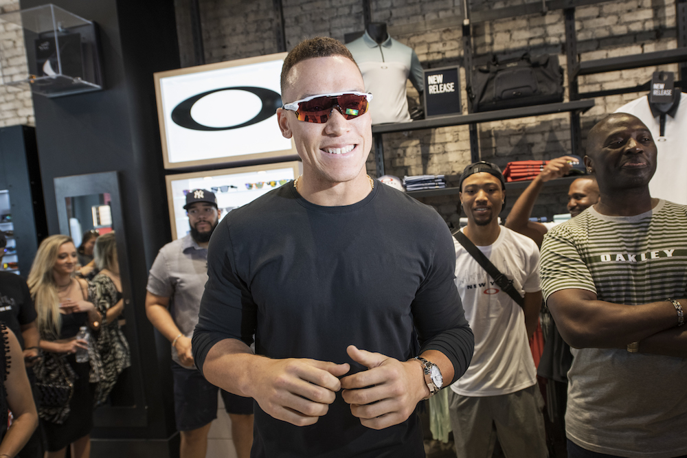 15340cc9f30d6 NY Yankees Star Aaron Judge Joins Team Oakley to Unveil New Eyewear Collab