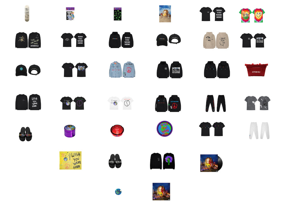 1a8e0249 Travis Scott's Entire 'Astroworld' Capsule Collection is Available Now for  the Next 24 Hours