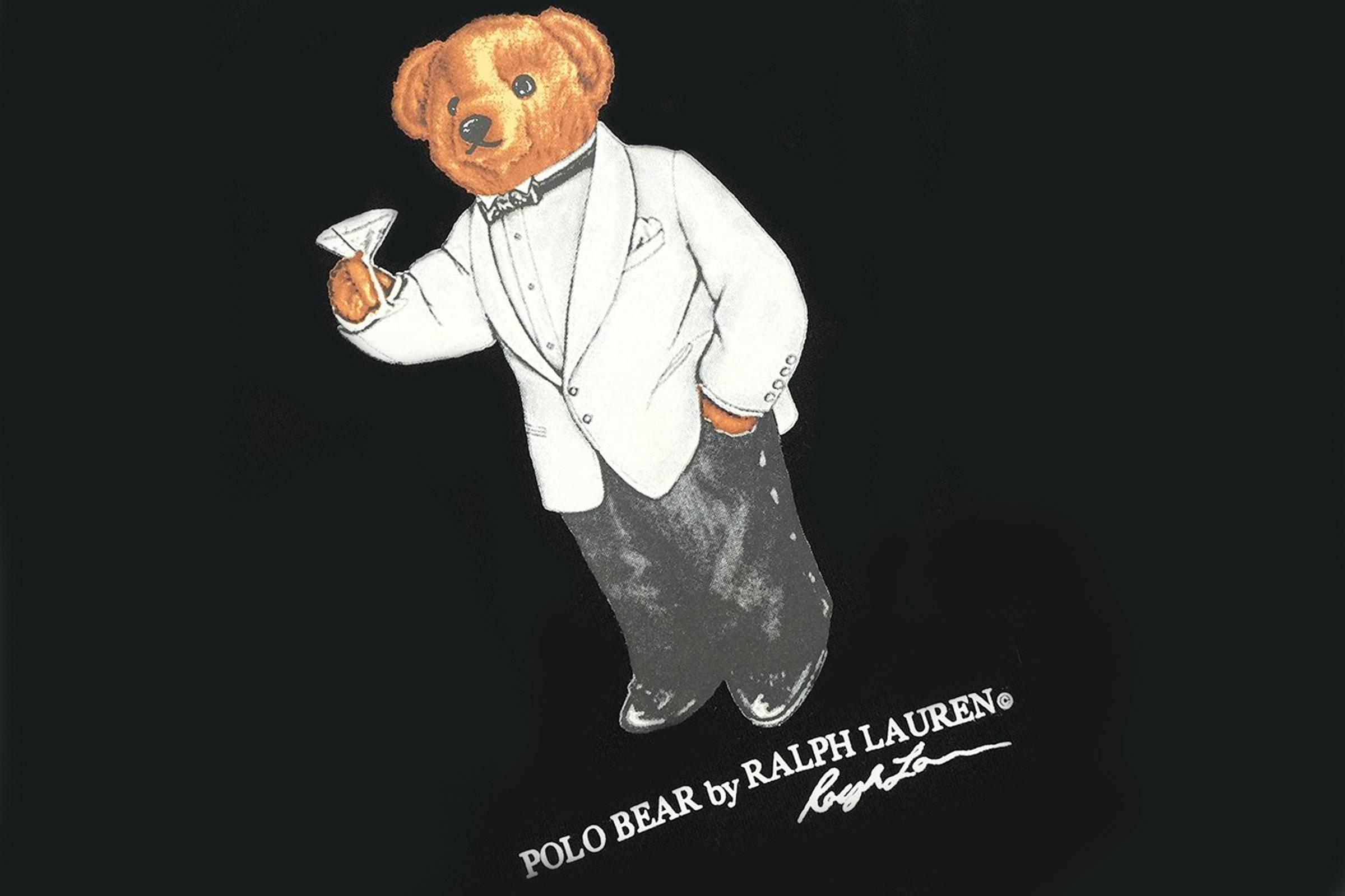 white dinner jacket polo bear
