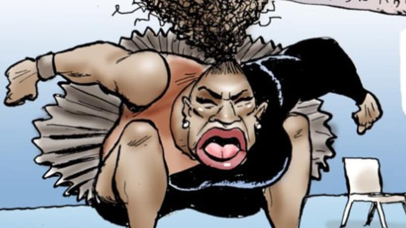 Cartoonist Denies Serena Williams US Open Depiction is Racist