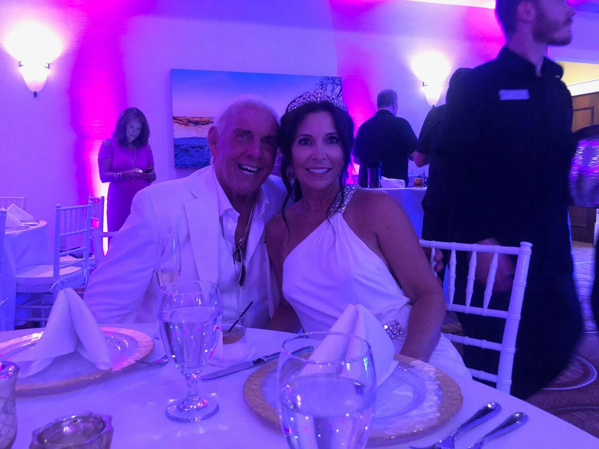 Wrestling Legend Ric Flair Marries Longtime Fiancee Wendy Barlow in Florida