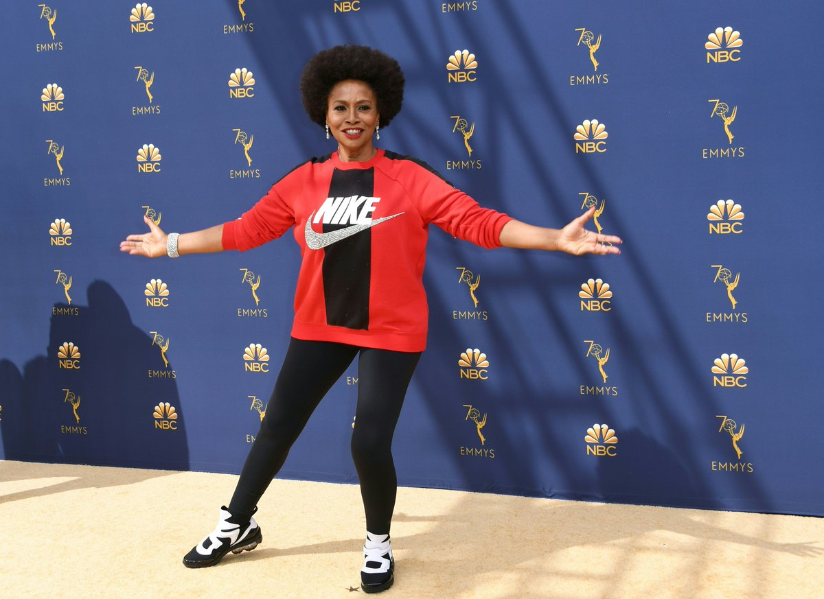 Jenifer Lewis Wears Nike on Emmy's Red Carpet to Support Kaepernick