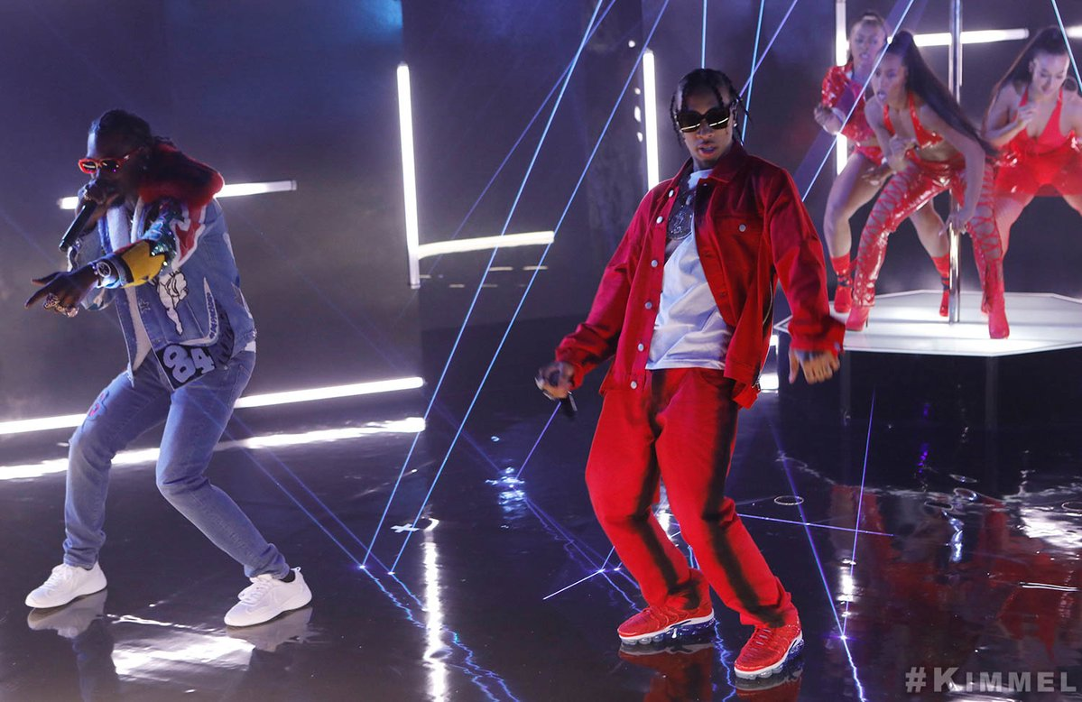 Tyga and Offset Light Up the Stage on 'Jimmy Kimmel Live!'