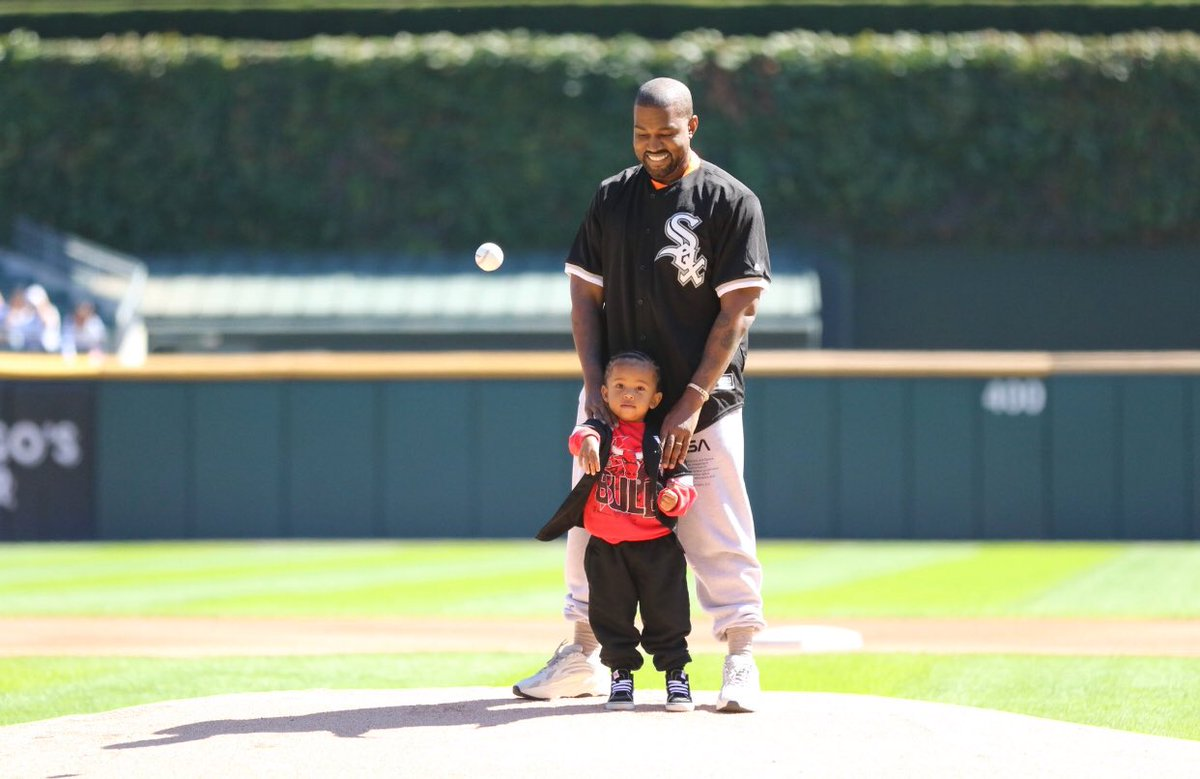 Kanye West Shares Adorable Father-Son Moment with Saint West at Chicago White Sox Game