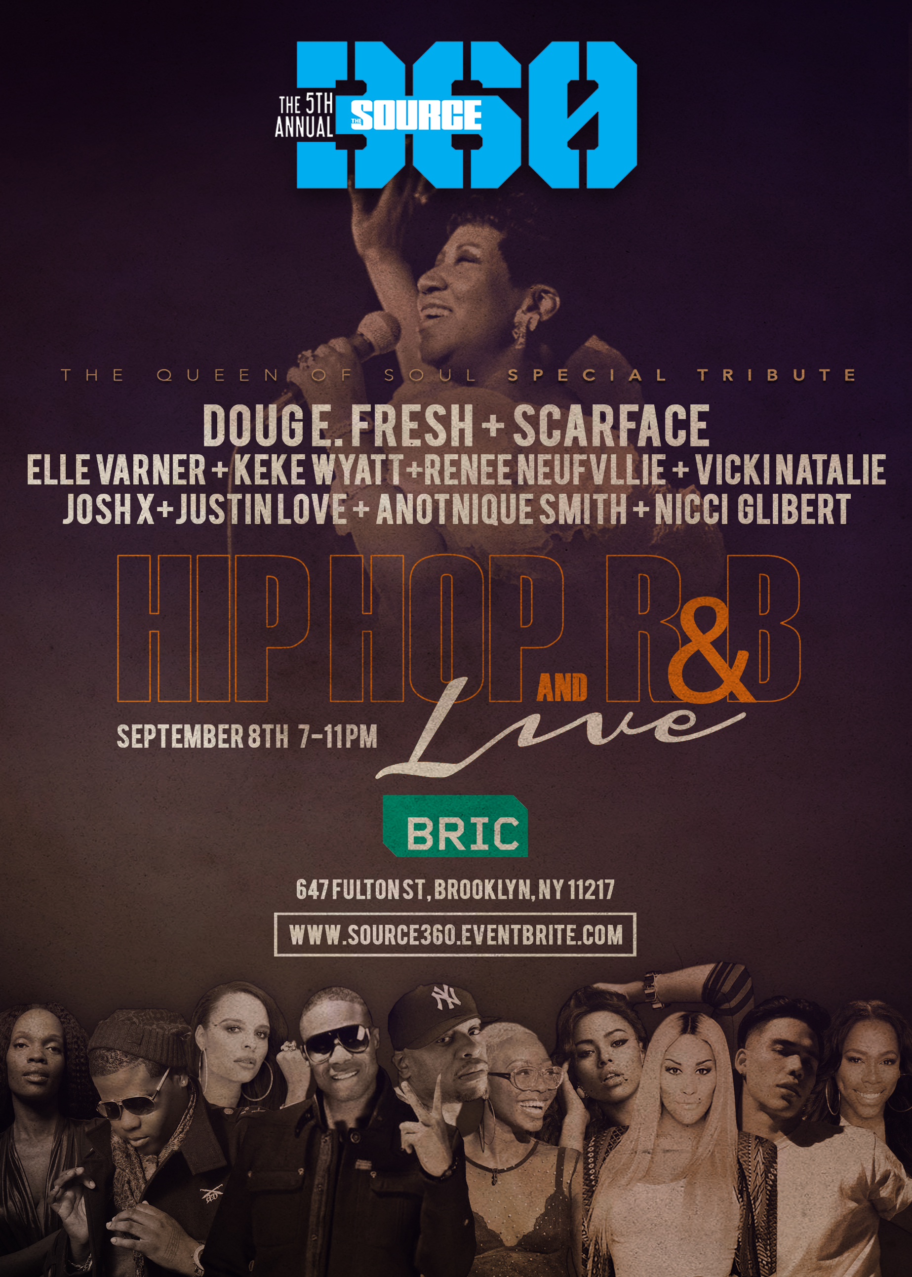 Doug E. Fresh, Scarface, Elle Varner, KeKe Wyatt & More to Honor Aretha Franklin at 5th Annual SOURCE 360 Festival & Music Conference