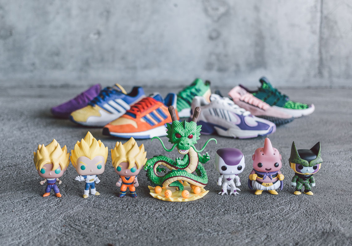 hot sale online 94e8d efe00 ... adidas x Dragon Ball Z collection. In addition to cool colorways that  bring the high-flying characters to life, we really have to give props to  BAIT for ...
