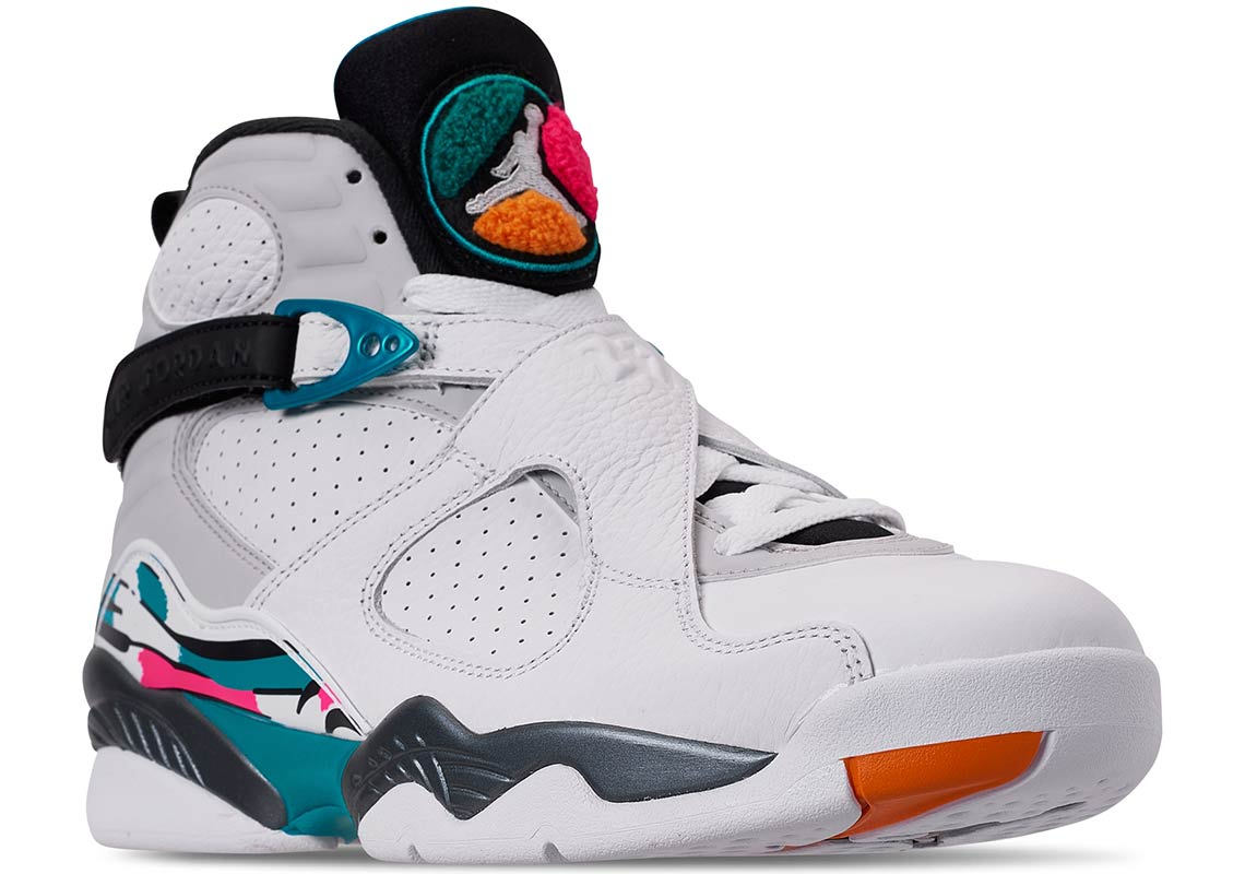 """size 40 e1018 5e844 Take a closer look at the Air Jordan 8 """"South Beach"""" below, and expect all  sizes to arrive online and at select retailers for  190 USD beginning  October 13."""