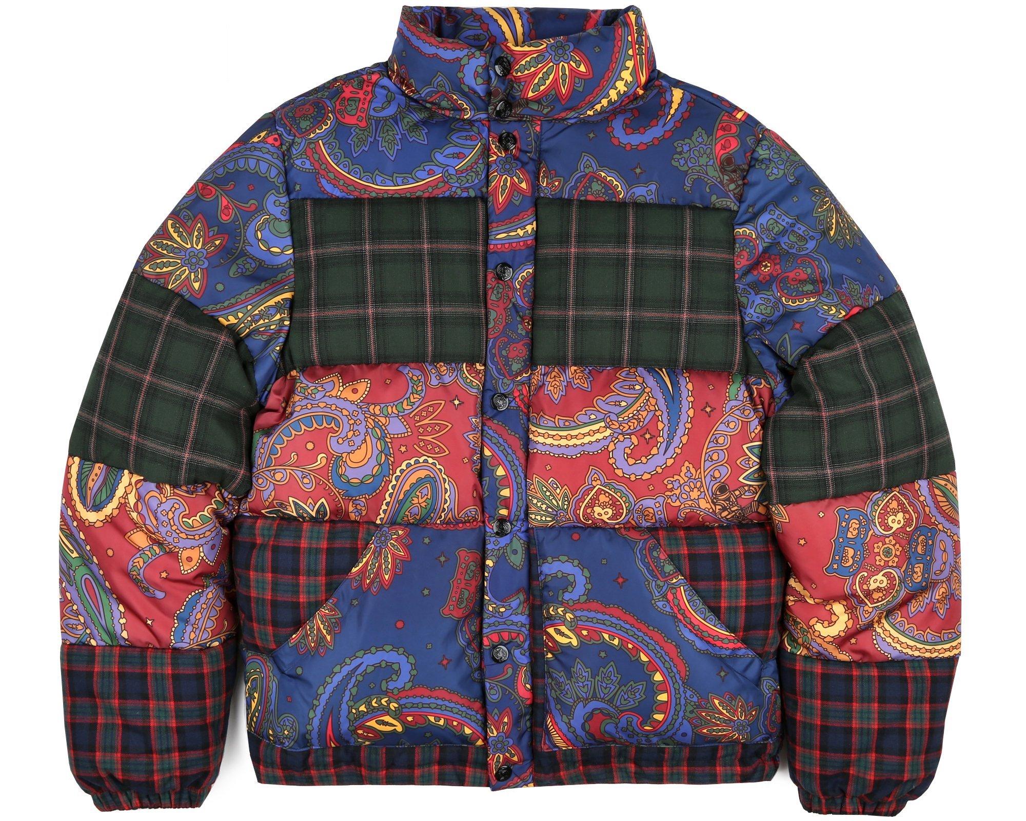 billionaire boys club fw paisley check down jacket