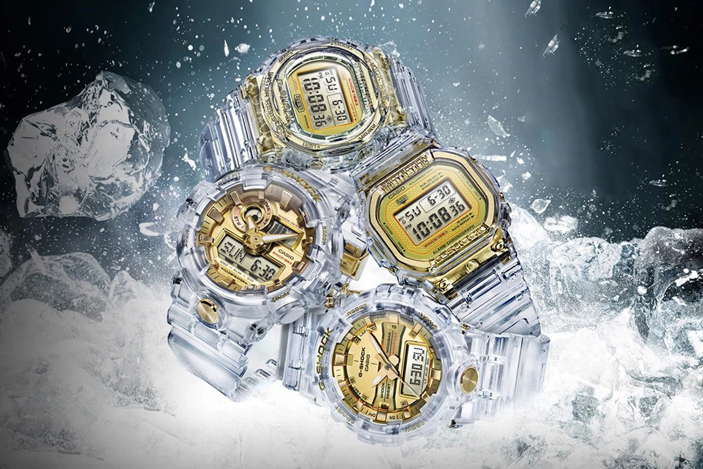 casio g shock skeleton gold th anniversary