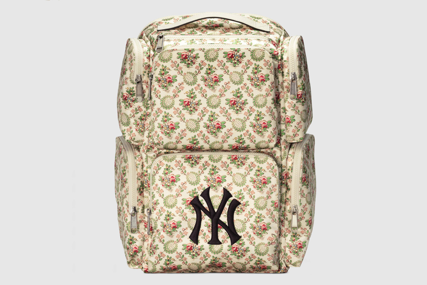 1505cef3e3d38 The love for the Yanks traces back to Gucci creative director Alessandro  Michele s signature Yankees cap that he personally owns. The collection  includes ...