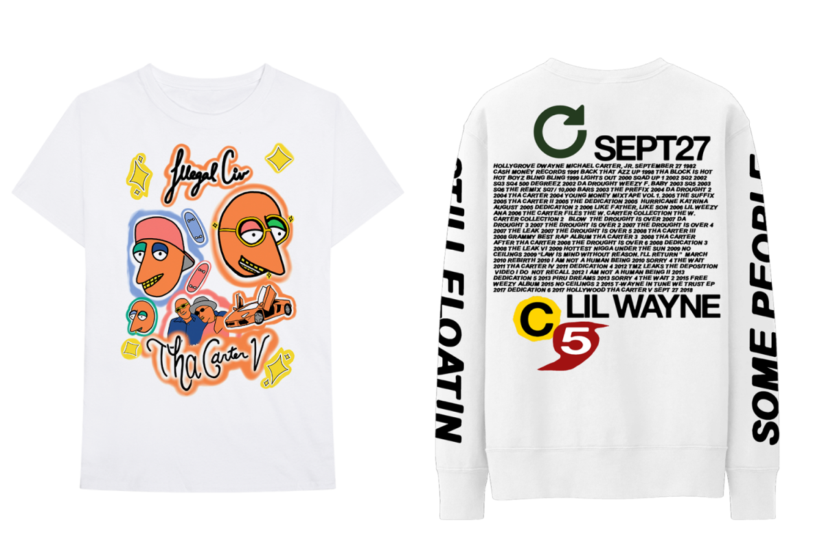Take A Look At Lil Waynes Second Drop From His Tha Carter V Album Carters 3 Pieces Orange Mickey Mouse Merch