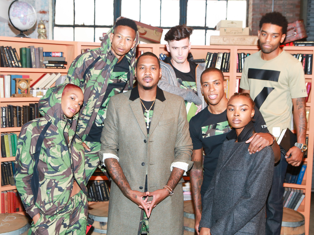source exclusive carmelo anthony melo made nyfw presentation