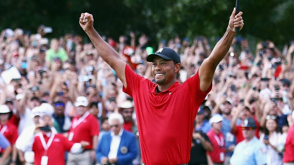 Tiger Woods Captures His First PGA Tournament Victory in Five Years
