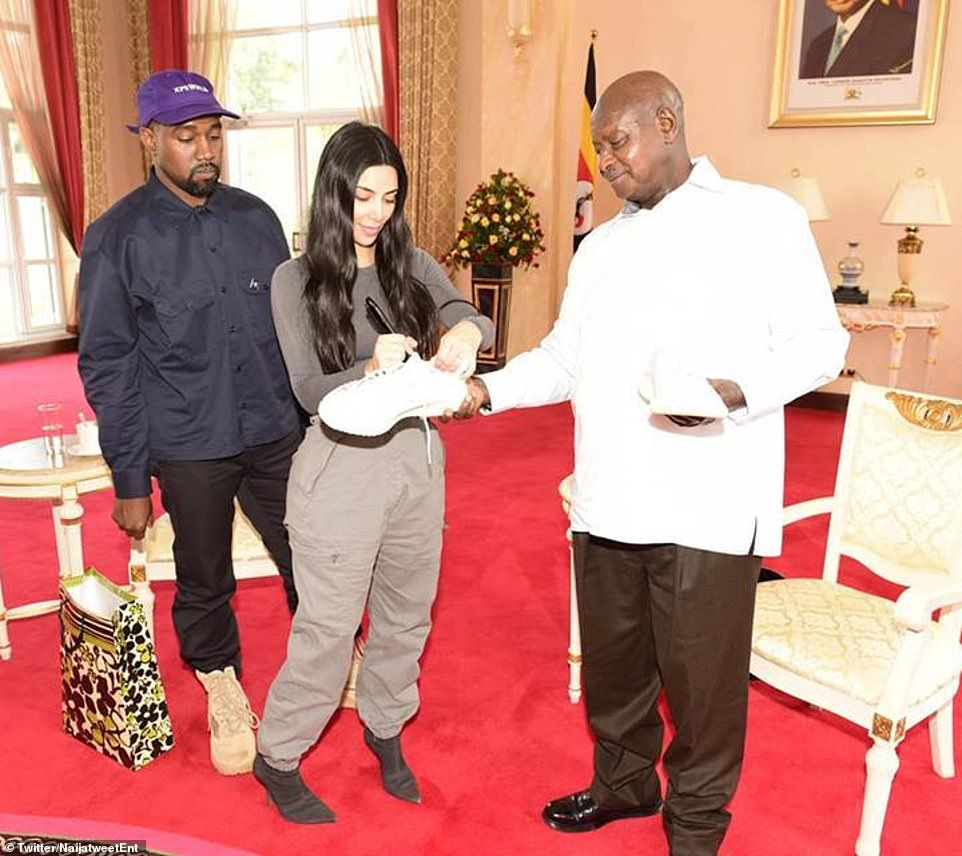 Kanye West Meets with President of Uganda, Gifts Pair of Yeezy Sneakers