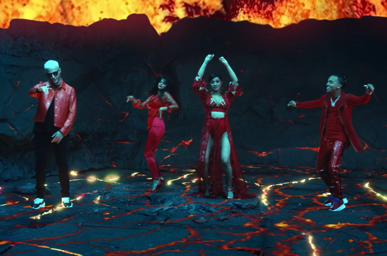 Cardi B, Ozuna, Selena Gomez Perform in a Volcano for DJ Snake's 'Taki Taki' Video