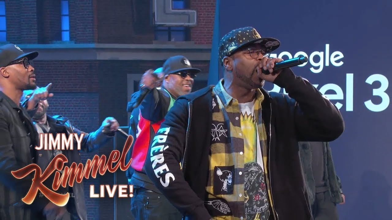 Wu TangClanAppearon'JimmyKimmelLive!'toPerform'C.R.E.A.M'and'ProtectYaNeck'