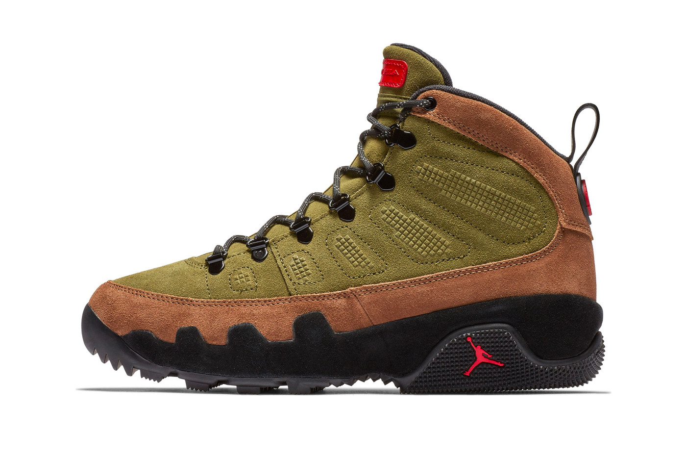 "5619d493638fa3 Jordan Brand Decks Out the Air Jordan 9 Boot NRG In a ""Beef   Broccoli""  Colorway"