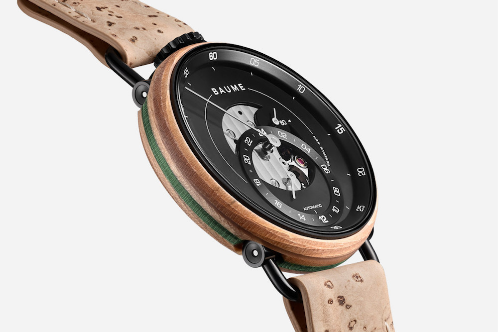 baume hrs recycled skate deck watch