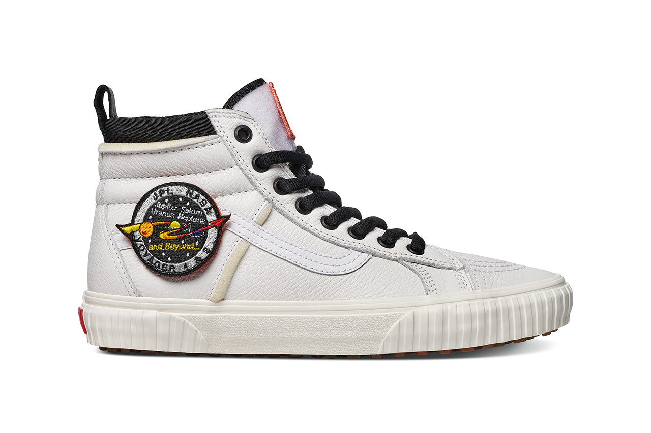 """f3803d2e03 Expect the NASA x Vans """"Space Voyager"""" Collection to arrive at select  retailers and online starting this Friday (November 2) in adult and kids  sizes alike."""