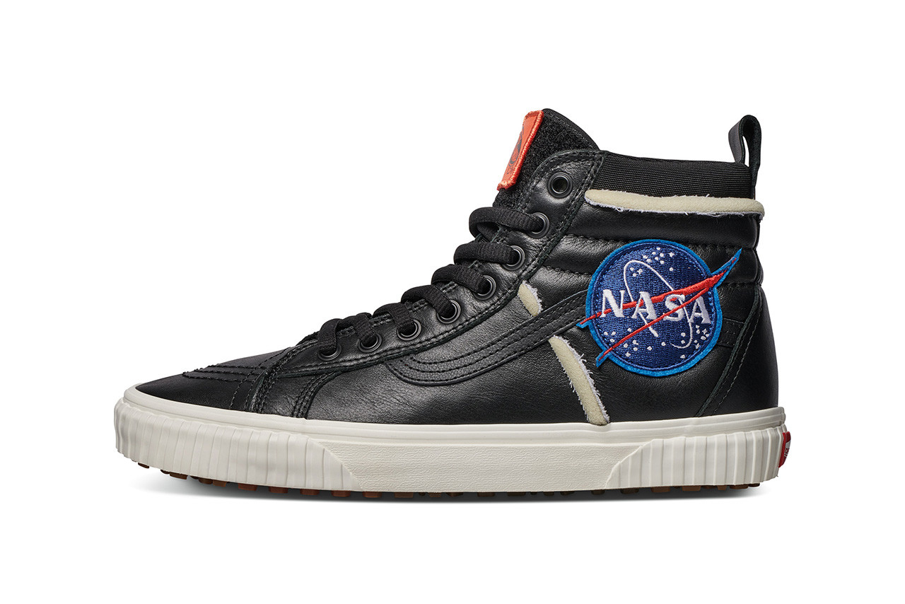"323c6dbd91 Expect the NASA x Vans ""Space Voyager"" Collection to arrive at select  retailers and online starting this Friday (November 2) in adult and kids  sizes alike."