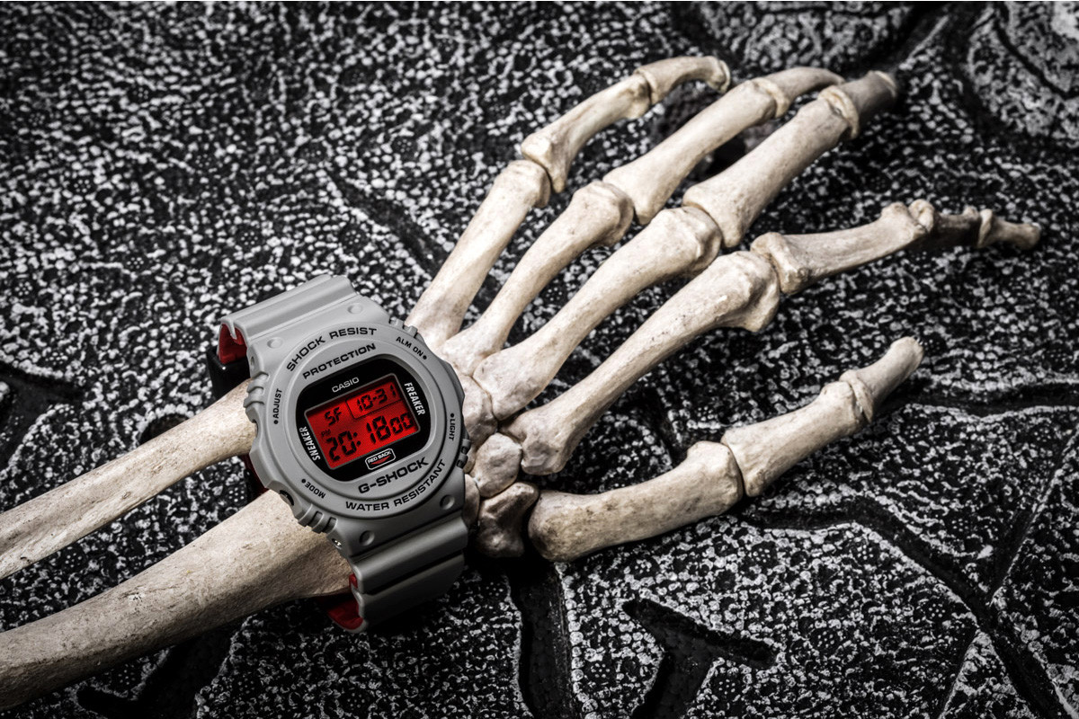 sneaker freaker g shock redback halloween collaboration