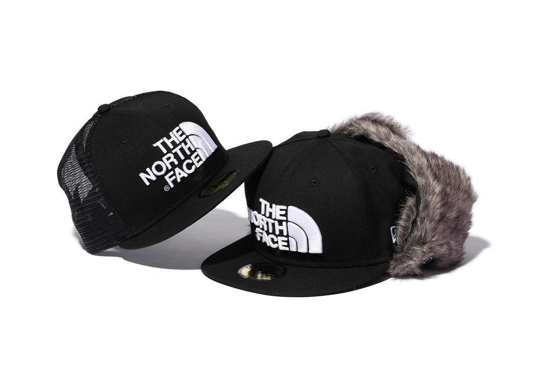 the north face japan new era trucker trapper hat