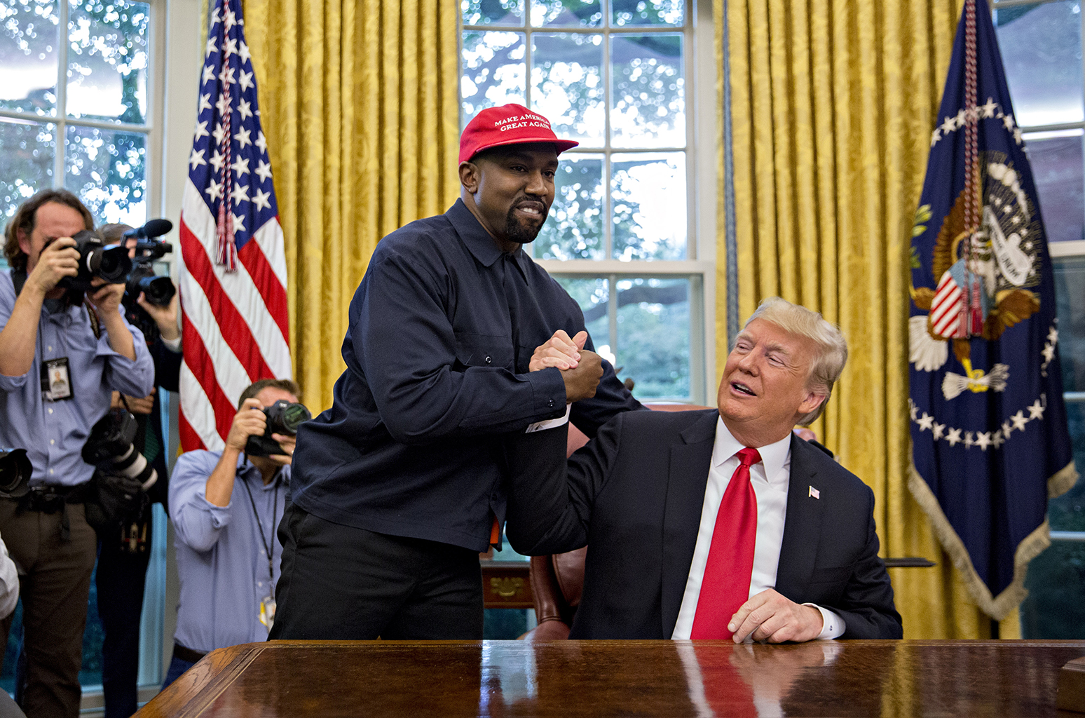 trump kanye west maga white house  billboard