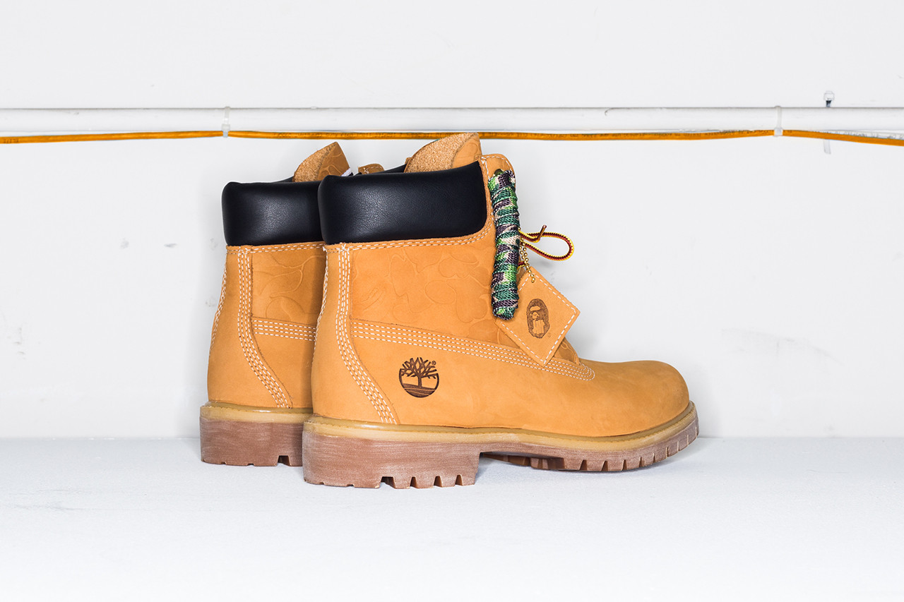 undefeated bape timberland  boot