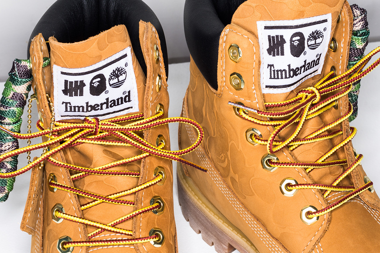 """bcb2d6e77c2 The UNDEFEATED x BAPE x Timberland 6"""" Boot drops this Saturday (October 27)  in the UNDEFEATED online shop"""