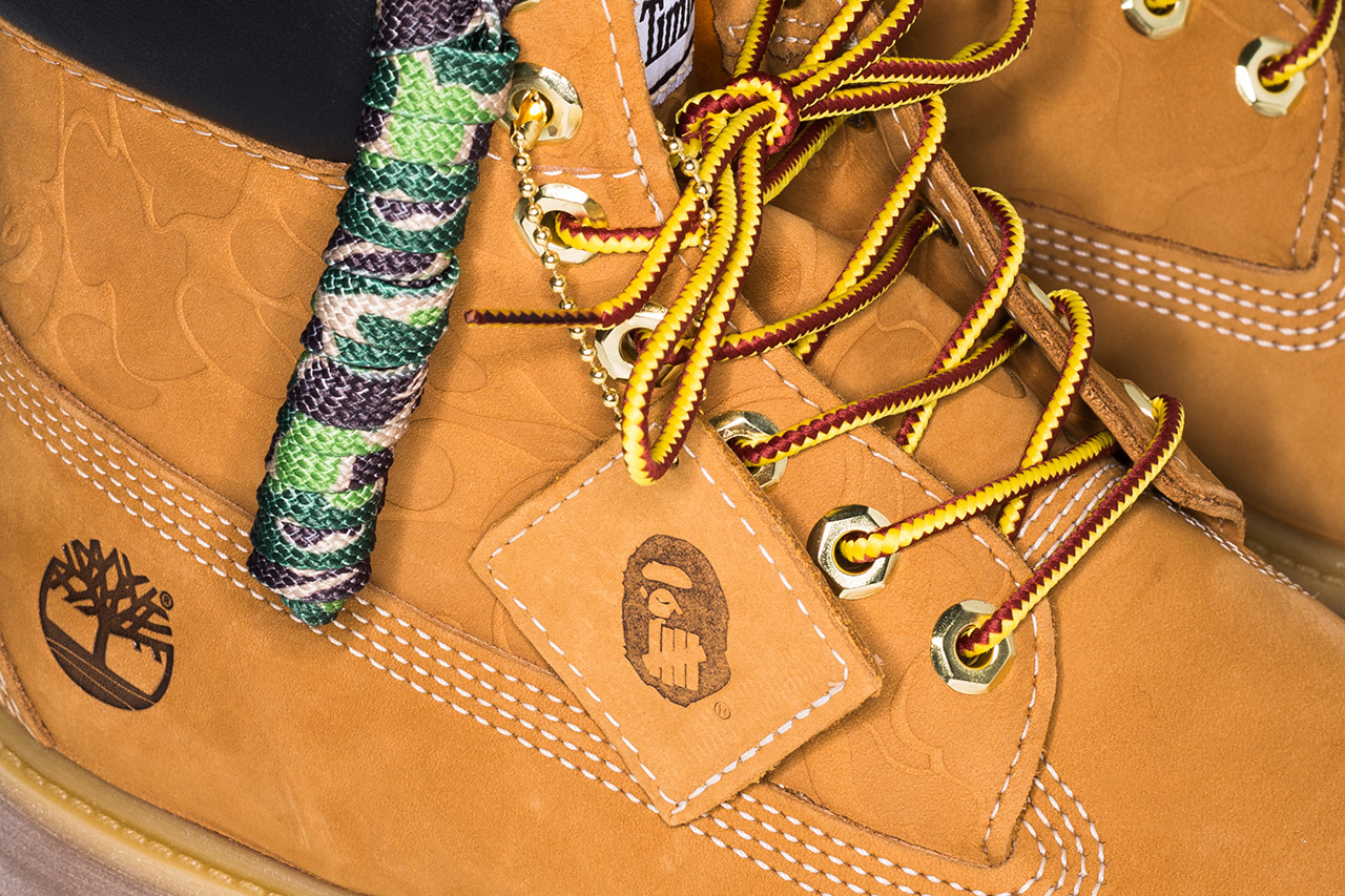 """9a043665068 UNDEFEATED x BAPE x Timberland 6"""" Boot Collaboration"""