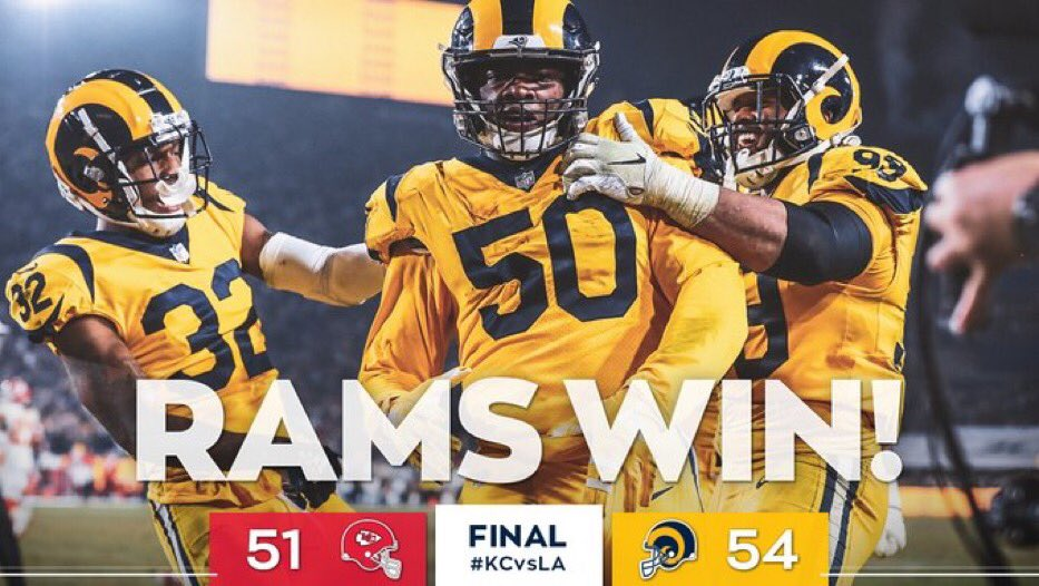 d0ed0840fb7f Monday Night Football Game Between Rams and Chiefs Becomes Instant Classic   Twitter Reacts