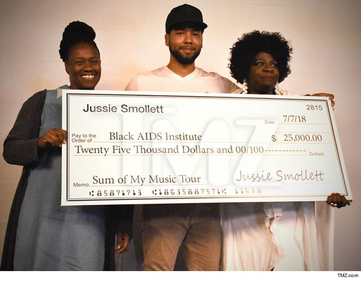 Jussie Smollett Donates $125K to Several Black Charities