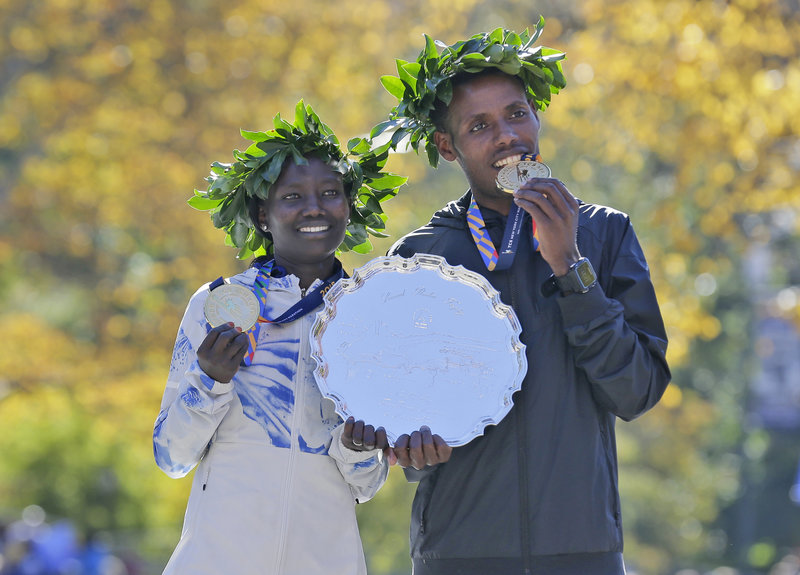 Kenya's Mary Keitany and Lelisa Desisa of Ethiopia Win New York City Marathon