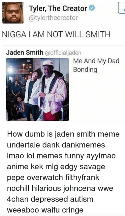 Tyler, The Creator Calls Jaden