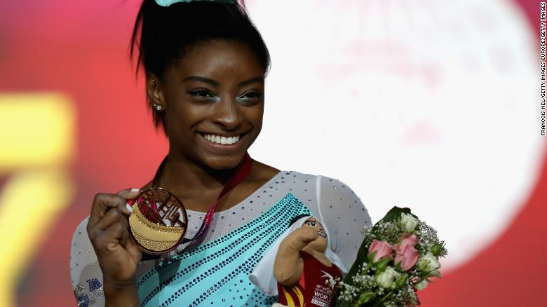 Simone Biles Wins her Fourth World Championships All-Around Title