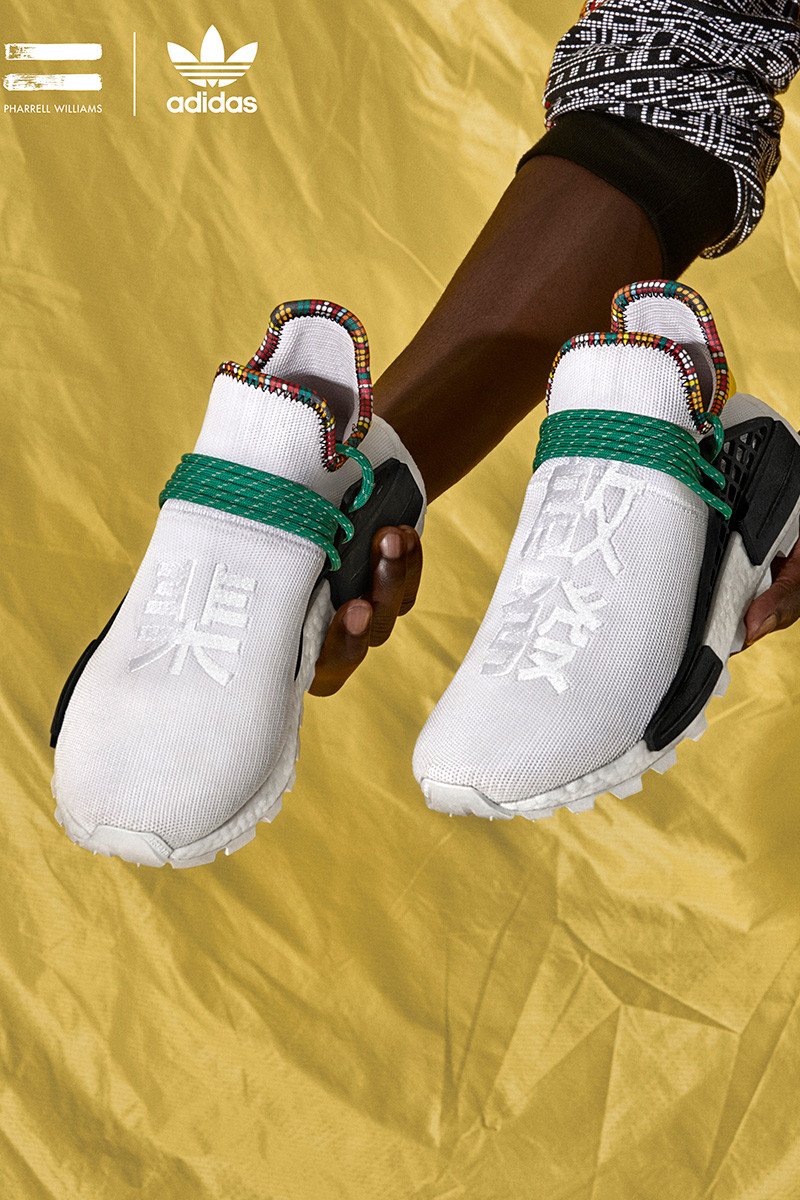 "47f9cc0b1261a The Pharrell x adidas Solar Hu NMD ""Inspiration Pack"" drops this Saturday  (November 10) online and at select retailers. Get a look at the  eye-grabbing ..."