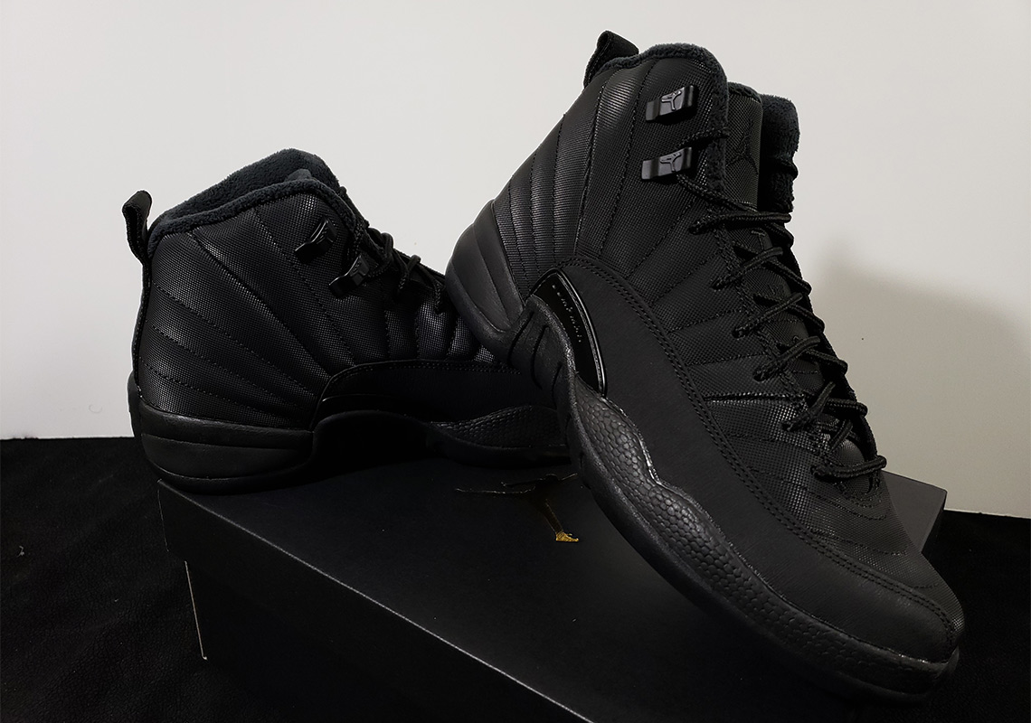 """cc03e1c203bf The Air Jordan 12 """"Triple Black"""" with winterized construction will arrive  in December"""